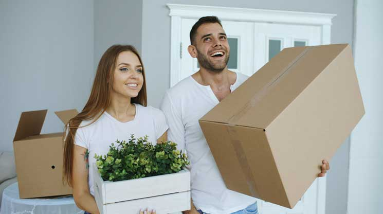 Couple Moving in to new house