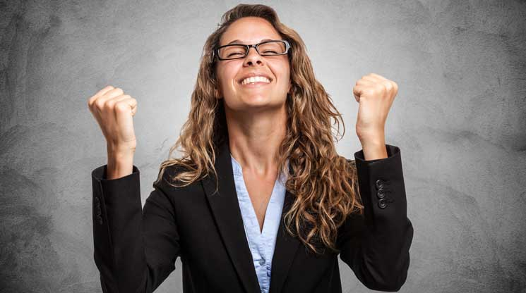 Woman excited it is hump day