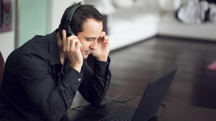 Man Streaming Music