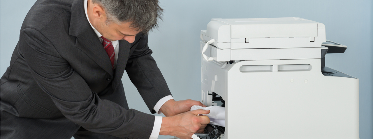 man with copier issues