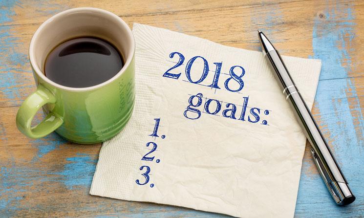 2018 goals pad of paper